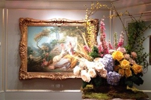The Shepherdess, Jean-Honore Fragonard/ floral artist: LaTulipe, LLC
