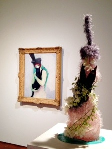 Woman with Cat, Kees van Dongen floral art: Elmbrook Garden Club